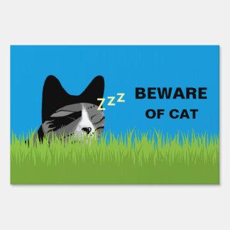 Beware of Cat - Sleeping Cat Sign