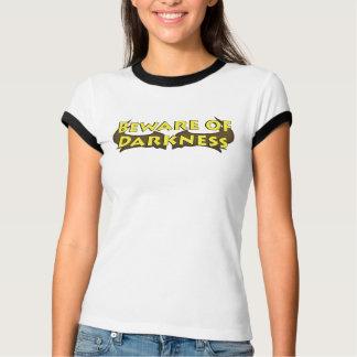 Beware of Darkness Mustache Logo Ladies Ringer T T-Shirt
