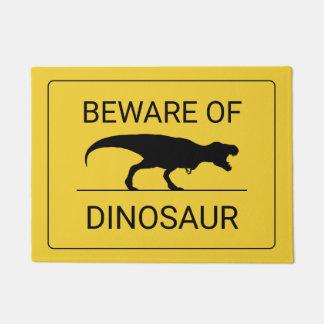 Beware of Dinosaur Funny Doormat