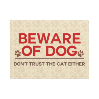 Beware of Dog and Cat Doormat