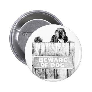 Beware of Dog Pinback Button