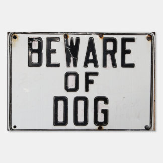 BEWARE OF DOG Lawn Sign