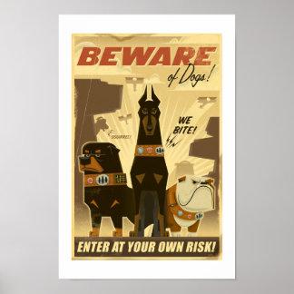 Beware of Dogs! Poster - Disney Pixar UP!