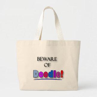Beware of Doodle Large Tote Bag