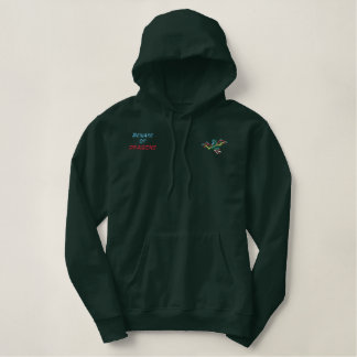 Beware of Dragons Embroidered Hooded Sweatshirt
