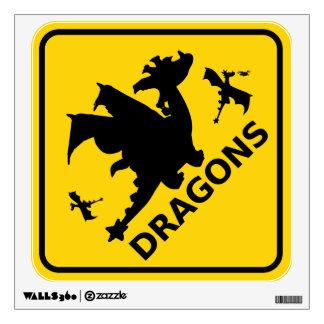 Beware of Dragons Warning Sign Wall Sticker