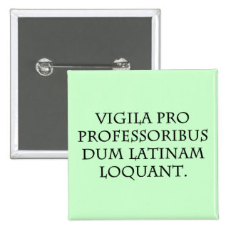 Beware of Experts (Latin) 2 Inch Square Button