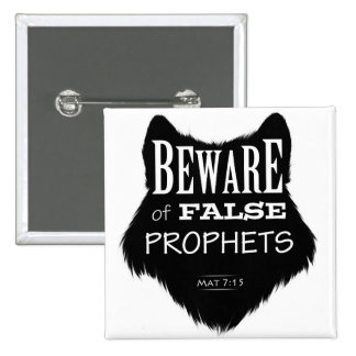 Beware of False Prophets 2 Inch Square Button