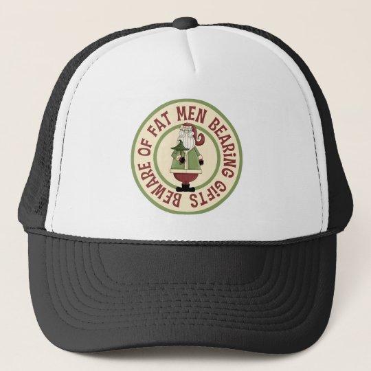 Beware Of Fat Men Funny Christmas Hat/Cap Trucker Hat