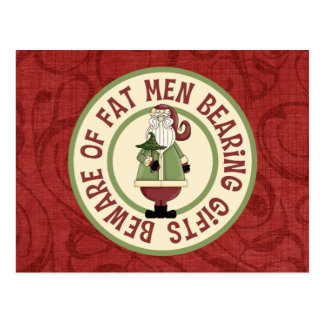 Beware Of Fat Men Postcard