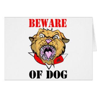 Beware of Ferocious Dog Card