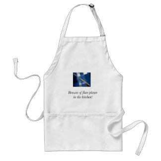 Beware of flute player in the kitchen standard apron