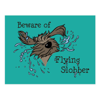 Beware OF flying Slobber Postcard