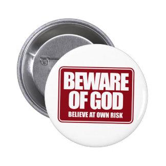 Beware of God 2 Inch Round Button