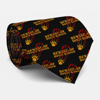 Beware of honey badger tie