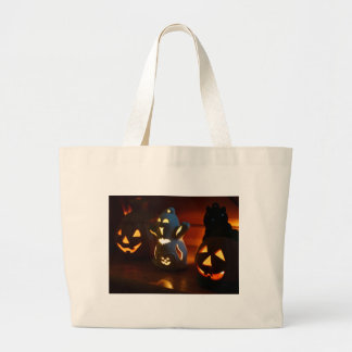 Beware of laughing spooks large tote bag