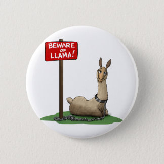 Beware of LLama! 2 Inch Round Button
