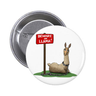 Beware of LLama! 2 Inch Round Button