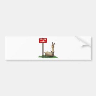 Beware of LLama! Bumper Sticker