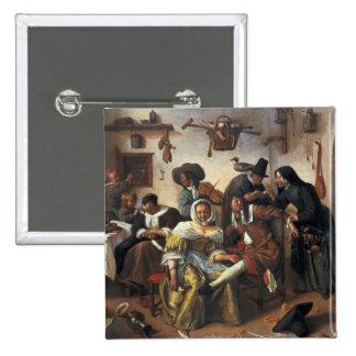 Beware of Luxury, c.1663 2 Inch Square Button