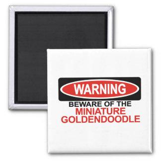 Beware Of Miniature Goldendoodle Magnet