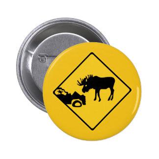 Beware of Moose, Traffic Sign, Canada Pins