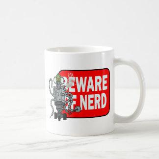 Beware of nerd coffee mug