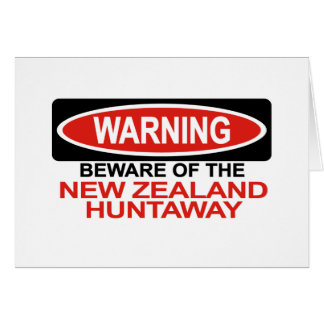 Beware Of New Zealand Huntaway Card