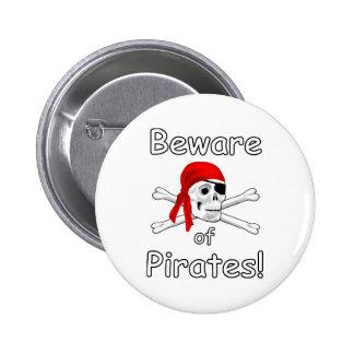 Beware of Pirates Button 2