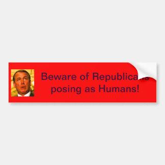 Beware of Republicans Bumper Sticker