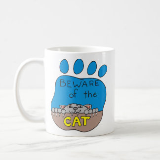 Beware of the Cat Coffee Mug