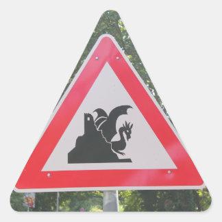 Beware of the Dragon! Triangle Sticker