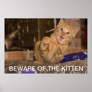 Beware of the Kitten Poster