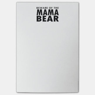 Beware of the Mama Bear Post-It Notes