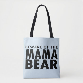 Beware of the Mama Bear Tote Bag (blue)