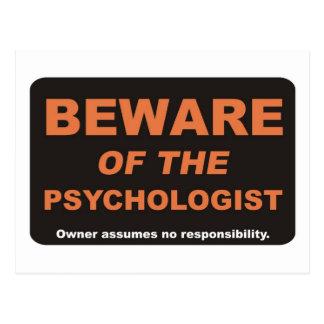 Beware of The Psychologist Postcard
