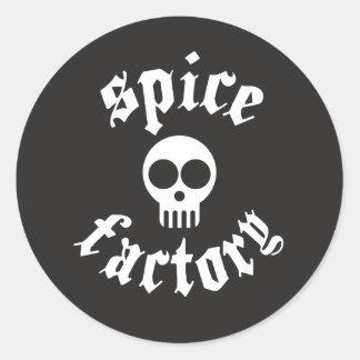 beware of the spice classic round sticker