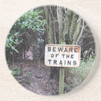 Beware of the Trains! - Range Drink Coaster