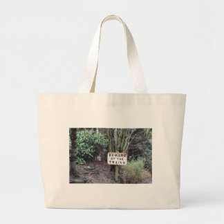 Beware of the Trains! - Range Large Tote Bag