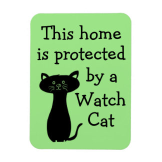 Beware of the Watch Cat Magnet