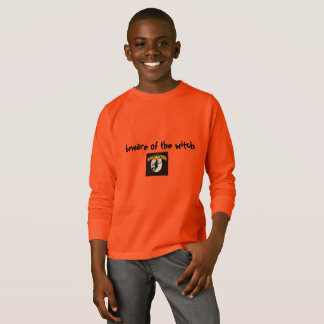 BEWARE OF THE WITCH ORANGE LONG SLEEVE T SHIRT