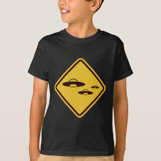 Beware of Ufo Funny Road Sign T-Shirt