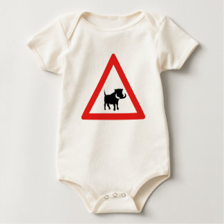 Beware of Warthogs, Traffic Sign, South Africa Baby Bodysuit