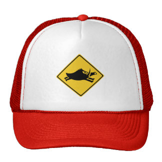 Beware of Wild Boars, Traffic Sign, Japan Trucker Hat