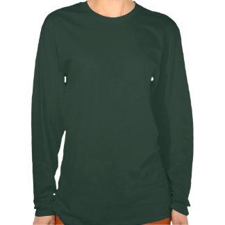 """Beware Of Yajuu"" Ladies Army Green T Shirt"