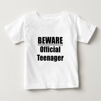 Beware Official Teenager Baby T-Shirt