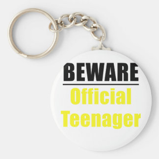 Beware Official Teenager Keychain