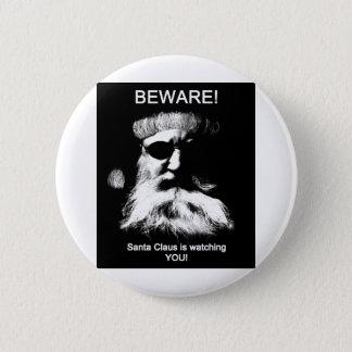 Beware_Santa 2 Inch Round Button