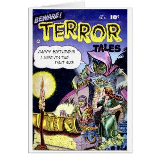 """Beware Terror Tales"" Birthday Card"