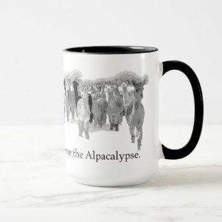 Beware the Alpacalypse - Funny Nerd Corny Humor Mug